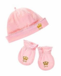 Juicy Couture hat and mittens :)
