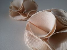 Cream Silk Rosette Shoe Clips Bridal and Evening. $19.40, via Etsy.