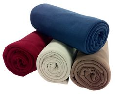 """Cozy up to new customers with our customizable fleece! At 60"""" x 60"""", this is our largest fleece blanket. Great for picnics, outdoor sporting events and cuddling up, it provides just the right amount of warmth for the summer and is a great layer for cooler months. With its soft touch and velvet-like feel, this blanket is hard to resist. Choose from 20 vibrant colors and customize with a logo or brand! Duffel bag and strap sold separately."""