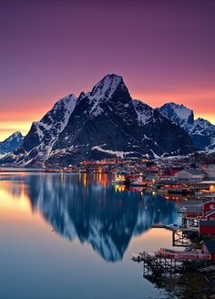 Reine | Lofoten, NORWAY. The main areas for mountaineering and climbing are on Austvågøya and Moskenesøya. Moskenesøya is the most complete area for climbing.