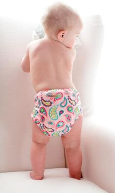 With snaps, elastic and fleece linings, cloth diapers are just as easy to use and more comfortable than disposable diapers.   Just wash, wear, repeat.  No more late night trips to the store for new diapers - just walk to your laundry room!