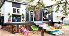 Bienvenidos a esta adorable y bohemia casa diminuta de 37 metros cuadrados