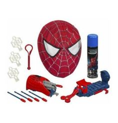 Amazon.com: Spider-Man 3 Reversible Red-to-Black Spider-Man Mask and Web Blaster: Toys & Games