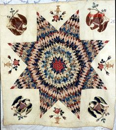 Eagle Medallion. (Maker not recorded). 1850-1875. From Connecticut Quilt Search, Connecticut Quilt Search Project. The Quilt Index