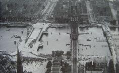 Op 14 juni 1929 werd de nieuwe Koninginnebrug geopend, rechts de tijdelijke brug. Rotterdam, Over The Years, Big Ben, Paris Skyline, History, City, Building, Places, Travel