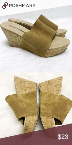 Suede Leather Boho Wedges ⚪️Like New ⚪️Extremely Comfy! Michael Shannon Shoes Wedges