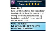 I was a problem patient in that I was not easy to sedate fully. Dr. Godat did a wonderful...