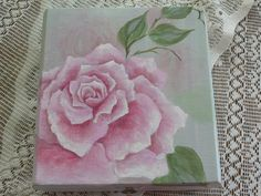 Hand painted rose jewelry box.  A piece from a few years ago.