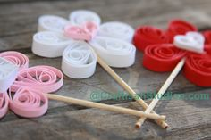 Quilling Heart Flowers