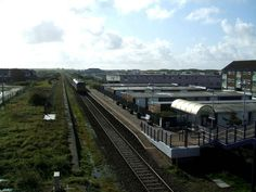 Squire's gate train station.  I have climbed those steps plenty of times, and crossed the bridge from where this picture was taken.  The houses on the left are built on what used to be Blackpool FC's training ground.