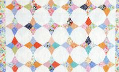 how to get the point in the Periwinkle quilt by Jenny Doan