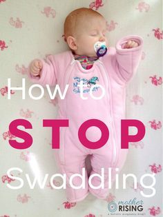 Do you need to know how to stop swaddling? Transitioning a baby out of a swaddle blanket can be awful, but here's a way to make the transition seamless. Get Baby, My Baby Girl, Baby Sleep, Baby Swaddle, Swaddle Blanket, Transitioning Baby To Crib, Baby Play, Baby Kids, Swaddle Transition