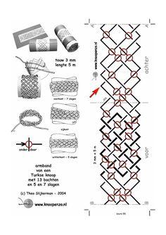 enrHedando: Pulsera entre Cuerdas y Nudos.Tutoriales