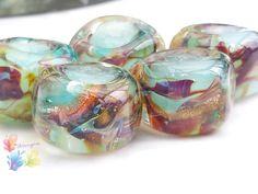 Lampwork Beads Water Nymph Glamour Rocks by GlitteringprizeGlass on Etsy https://www.etsy.com/listing/175094068/lampwork-beads-water-nymph-glamour-rocks