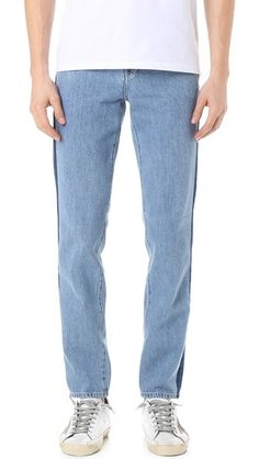 adidas neo herre fashion jeans one blå denim