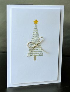 handmade Christmas card from A Little Space of My Own … clean and simple … t… – Christmas DIY Holiday Cards Homemade Christmas Cards, Christmas Cards To Make, Handmade Christmas, Homemade Cards, Holiday Cards, Modern Christmas Cards, Christmas Card Designs, Coastal Christmas, Christmas Crafts