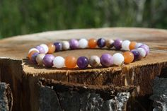 AA Quality Phosphosoderite, A Quality Lepidolite, A Quality Amethyst, A Quality Red Aventurine. Genuine Gemstone JUZU Bracelet. The Violet, How To Express Feelings, Soul Healing, How To Measure Yourself, Protection Stones, Crystal Meanings, Spiritual Path, Semi Precious Gemstones, How To Relieve Stress