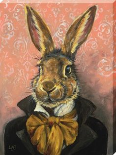 Acrylic on deep box canvas SOLD Easter Paintings, Animal Paintings, Canvas Art, Canvas Prints, Art Prints, Art And Illustration, Illustrations, Illustration Animals, Lapin Art