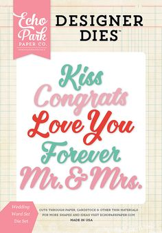 Echo+Park+-+Designer+Dies+-+Wedding+Word+Set+at+Scrapbook.com