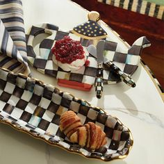 MacKenzie-Childs - Teapot Trivet, used as a cheese board, great idea to multi purpose