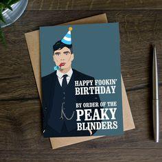 Peaky Blinders Birthday Card, Happy Fucking Birthday, Funny Birthday Card for Dad, Best Friend Birthday Card, Thoma Happy Birthday Quotes For Friends, Birthday Quotes For Daughter, Birthday Card Sayings, Happy Birthday Friend, Sister Birthday Quotes, Happy Birthday Greetings, Peaky Blinders Gifts, Peaky Blinders Quotes, 17th Birthday Gifts