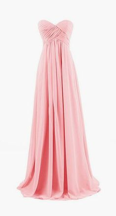 Long chiffon evening gown. Would be a nice bridesmaid dress in another color.