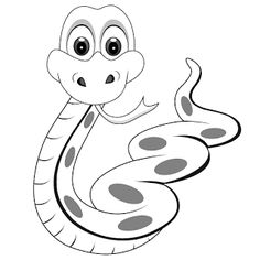 50 Free Printable SNAKE Coloring Pages Huge Collection!