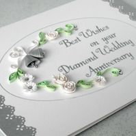 Quilled 60th Anniversary Card