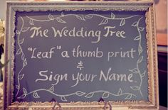 thumbprint tree guest book sign