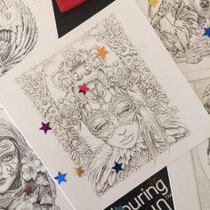 Colouring Card - Bennett's Lovely Ladies Combo 5 for 4