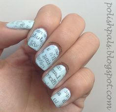 N is for Newspaper Nails