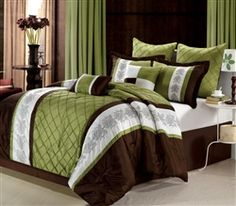 86 Best Green And Brown Bedding Images Bedroom Decor Room