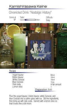 """Keine Kamashirasawa- Chronicled Drink """"Nostalgic History"""""""