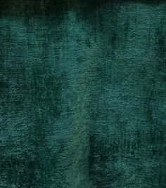 Designer Upholstery Thick And Soft Chenille Velvet Fabric - Emerald Green BTY - Default Title