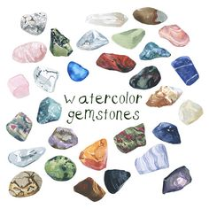 Hey, I found this really awesome Etsy listing at https://www.etsy.com/listing/197761924/watercolor-gemstones-illustration-rocks