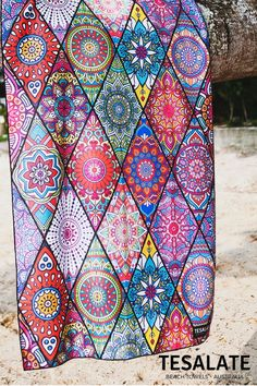 Tesalate beach towels are ultra compact, super absorbent, dry rapidly and are insatiably vibrant. Most importantly sand doesn't stick to them, even when wet. All our towels are made from our exclusive AbsorbLite fabric and are full beach towel sized. Free Shipping