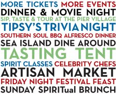 EIL is part of the 2nd Annual Saint Simons Food & Spirits Festival - October 1-6, 2013. And I can't wait!