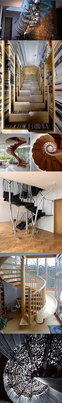 Staircase inspiration, interesting architecture.