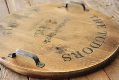 wine barrel inspired ...make into lazy susan
