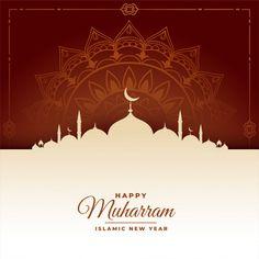 Happy muharram islamic new year festival background Free Vector Ramadan Background, Festival Background, New Years Background, Muharram Wallpaper, Hijri Calendar, Happy Islamic New Year, Ramadan Poster, Eid Mubarak Vector, Happy Muharram