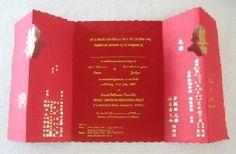 chinese wedding invitation card