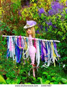Find Colorful Female Scarecrow stock images in HD and millions of other royalty-free stock photos, illustrations and vectors in the Shutterstock collection. Garden Crafts, Garden Projects, Outdoor Art, Outdoor Gardens, Make A Scarecrow, Scarecrow Ideas, Carillons Diy, Art Vert, Scarecrows For Garden