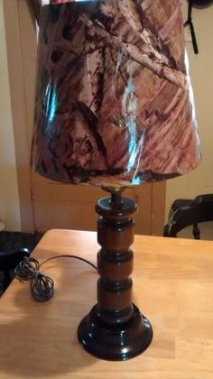 Camo lamp make-over for flea market store