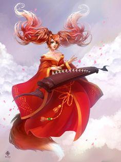 #LeagueOfLegends : Kitsune #Sona by *Yuka-Soemy on deviantART