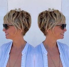 Brown Pixie Bob With Blonde Highlights knallt Grunge 90 Classy and Simple Short Hairstyles for Women over 50 Best Short Haircuts, Short Hairstyles For Women, Hairstyles 2016, Latest Hairstyles, Haircut Short, Everyday Hairstyles, Short Hair Cuts For Women Over 40, Short Hair Over 50, Short Stacked Hair