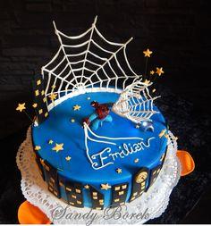 Spidermancake Spidermantorte Fondant Royalicingnetz #spidermancake, #spidermantorte+ 0