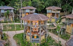 Have you ever wanted to stay in a treehouse? TreeHouse Villas Koh Yao Noi Luxury Resort in Thailand I 7 nights from only. Beach Resorts, Hotels And Resorts, Luxury Resorts, Beach Bungalows, Stay In A Treehouse, Interior Tropical, Bamboo House Design, Jungle Resort, Hut House