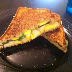 Grilled Cheese with spinach & apples.... This was gross. DON'T DO IT!!