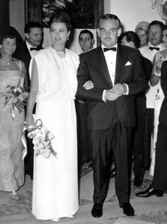 Princess Grace and Prince Rainier at the 1963 Red Cross Ball.
