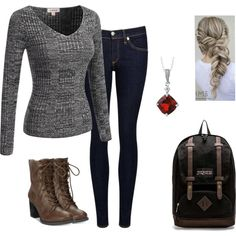 A fashion look from October 2016 featuring rag & bone/JEAN jeans, American Rag Cie ankle booties y JanSport backpacks. Browse and shop related looks.